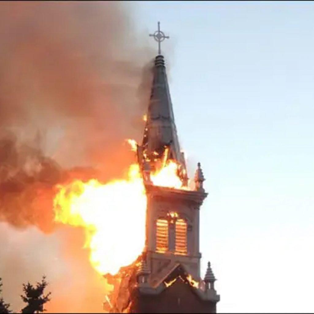 St. Jean Baptiste Parish Fire in Morinville